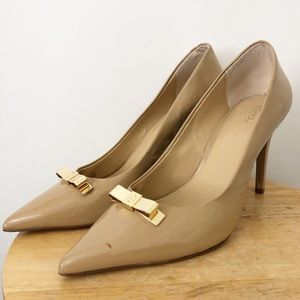 Michael Kors nude leather heels